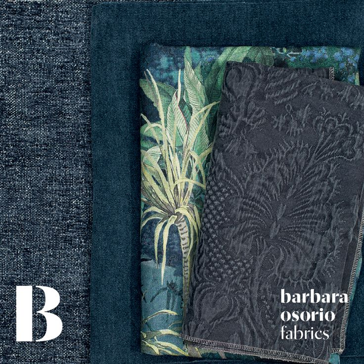 Equador collection 2015 by barbara osorio fabrics - B111 Dóce; B118 Atlântico; B105 São Tomé printed linen; B101 Omali
