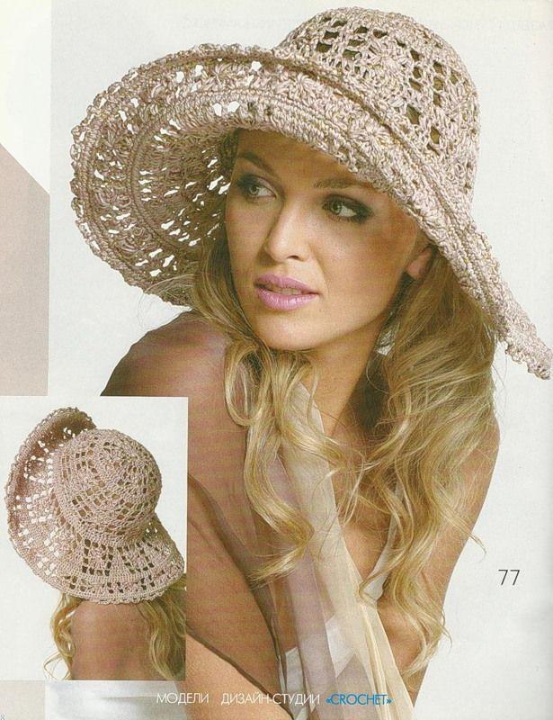 Patrones Crochet: 2 Pamelas de Ganchillo Verano