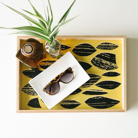 Modern and playful, this decorative handmade birch serving tray brightens any table and keeps your things contained. Buy this and other styles at keephousestudio