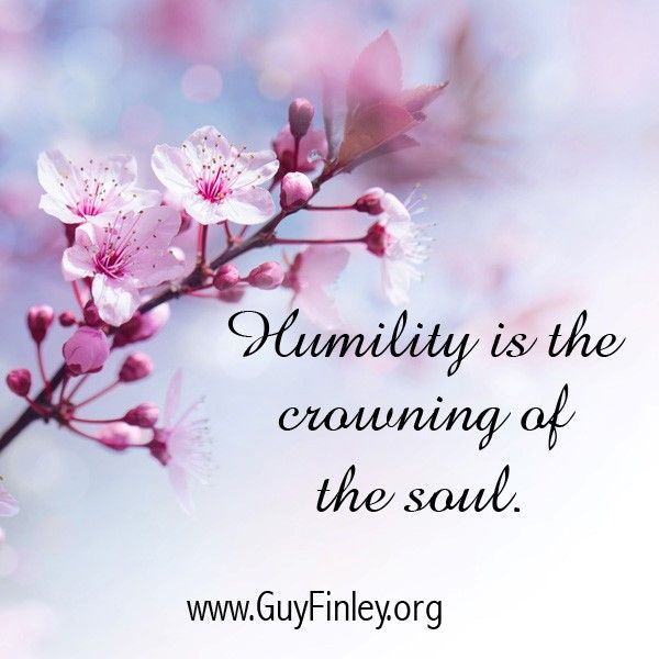 Humility is the crowning of the soul.