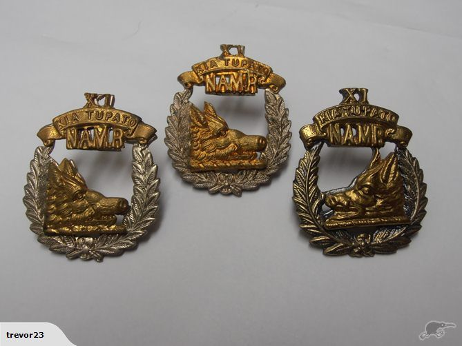 11th North Auckland Mounted Rifles Badge Set | Trade Me