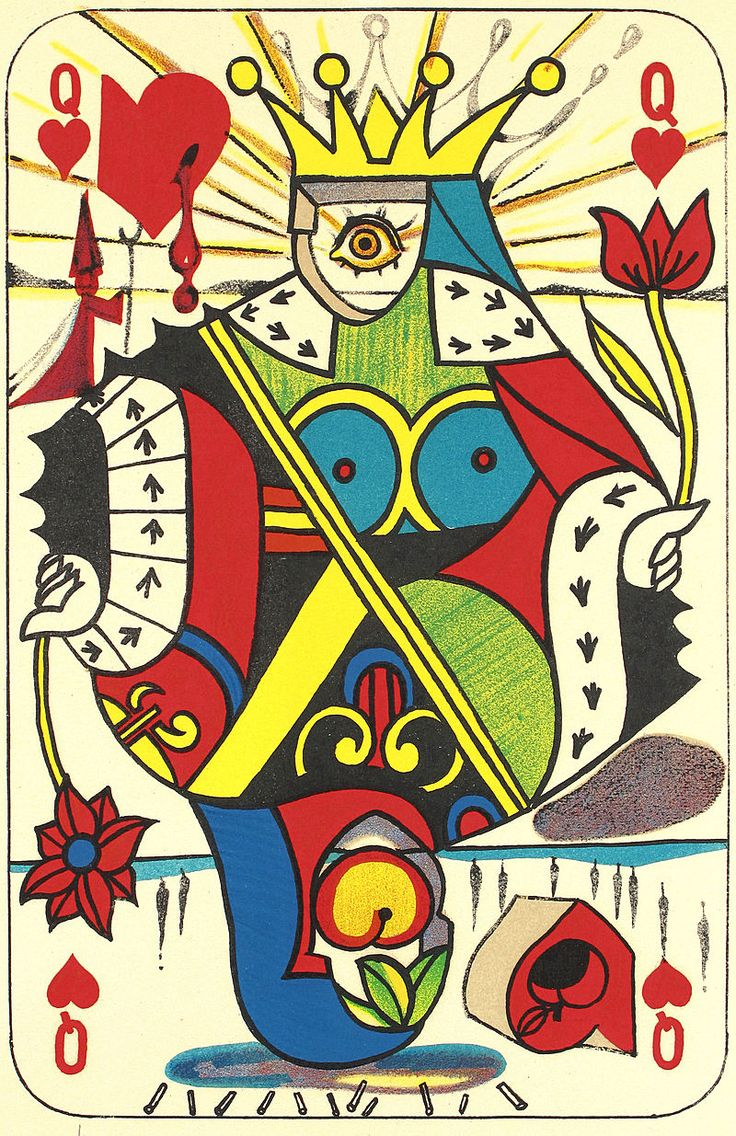 """""""Reina de corazones"""", Salvador Dalí, 1972. Veja também…"""