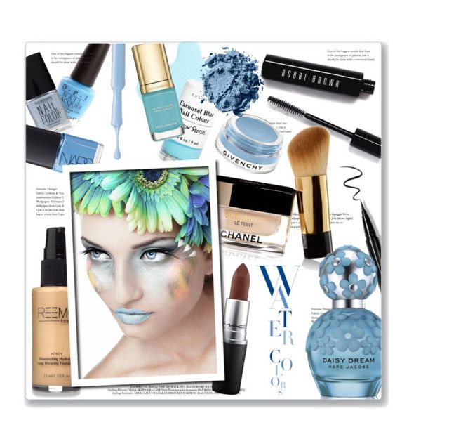 """""""Watercolour Makeup"""" by leanne-mcclean ❤ liked on Polyvore featuring beauty, MAC Cosmetics, KAROLINA, Bobbi Brown Cosmetics, Givenchy, Marc Jacobs, Beauty, makeup, blues and pastels"""