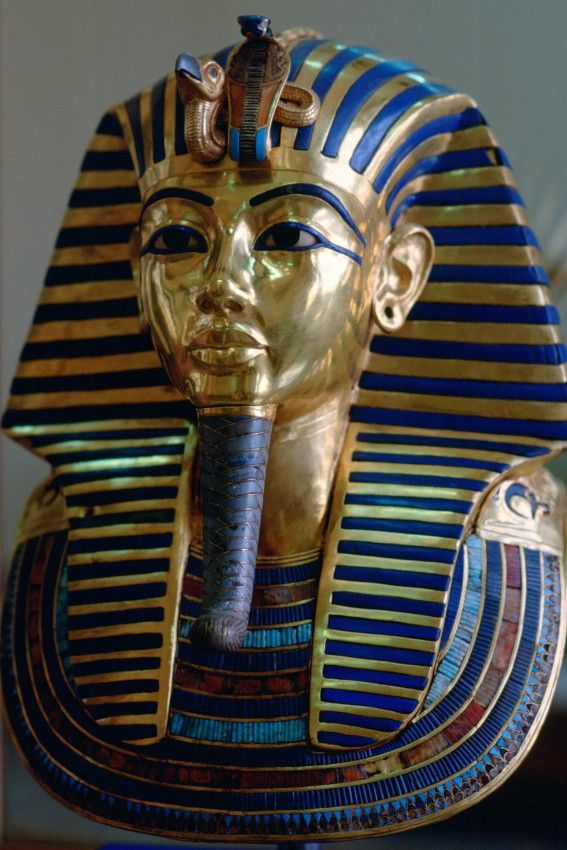 The funerary mask of King Tutankhamun at the Cairo Museum, Egypt. Photo: Tim Graham, courtesy Getty Images.