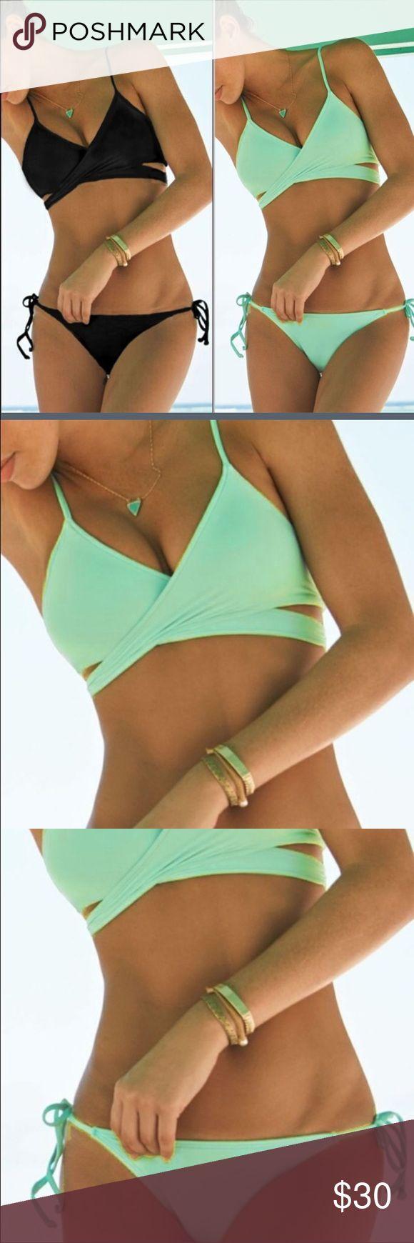 Blue Bikini set Women Bikini Beach Wear Swim Suit. Top has little padding in it Swim Bikinis