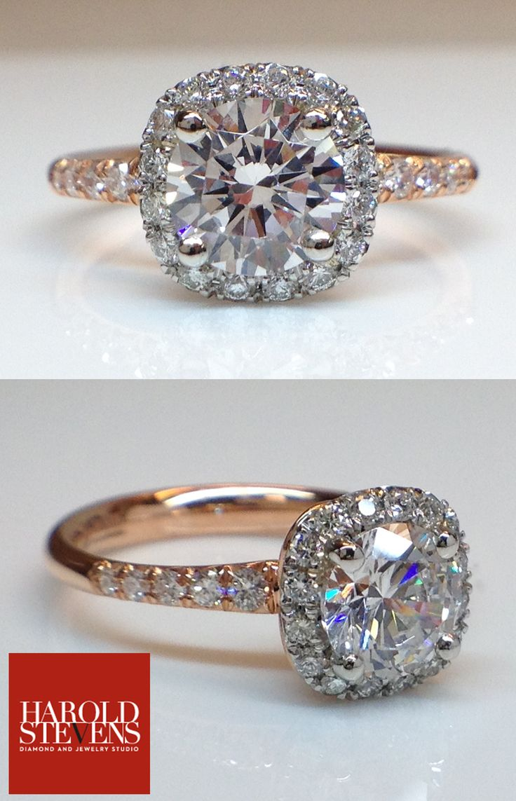 Extraordinary diamond engagement ring in 18k rose gold and platinum! (Just In!)