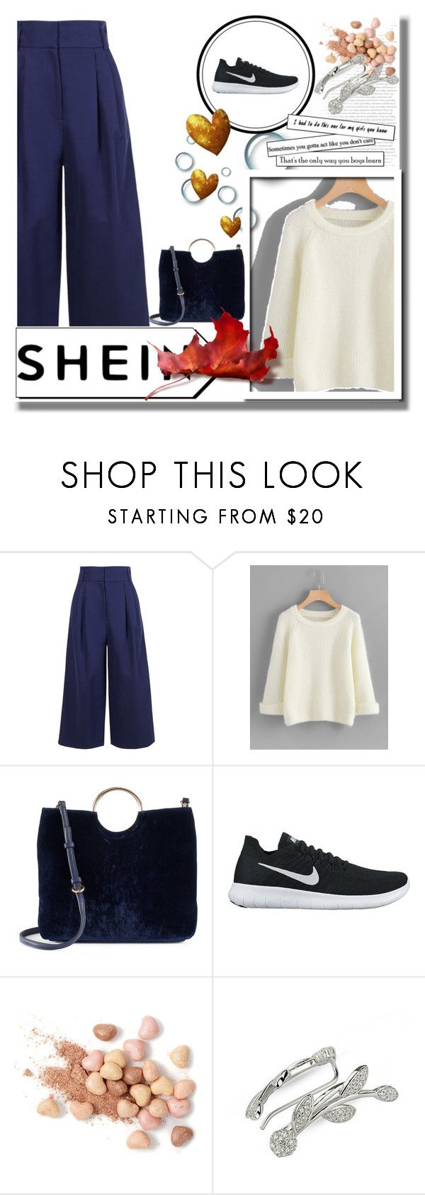 """""""Sheinaside"""" by zanfila12 ❤ liked on Polyvore featuring TIBI, LC Lauren Conrad, NIKE and Too Faced Cosmetics"""
