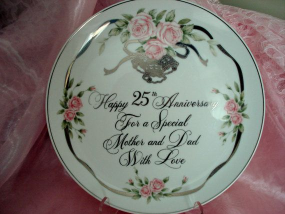Vintage 25th Anniversary For Mom and Dad door CottageGardenVintage