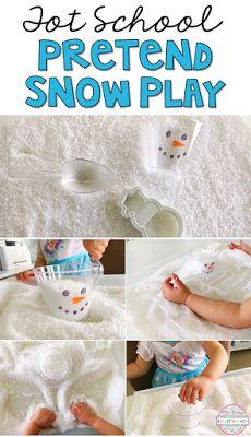 Instant fake snow is SOOO much fun for sensory play in tot school, preschool, and kindergarten.