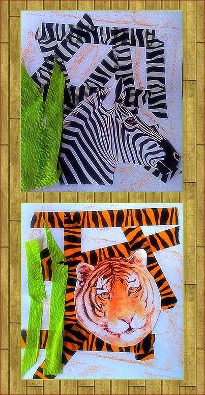 Zèbre et tigre