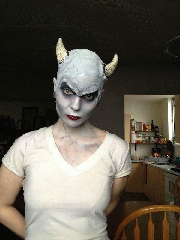 26 best images about Final Makeup on Pinterest Horns, Angel makeup - halloween horror makeup ideas