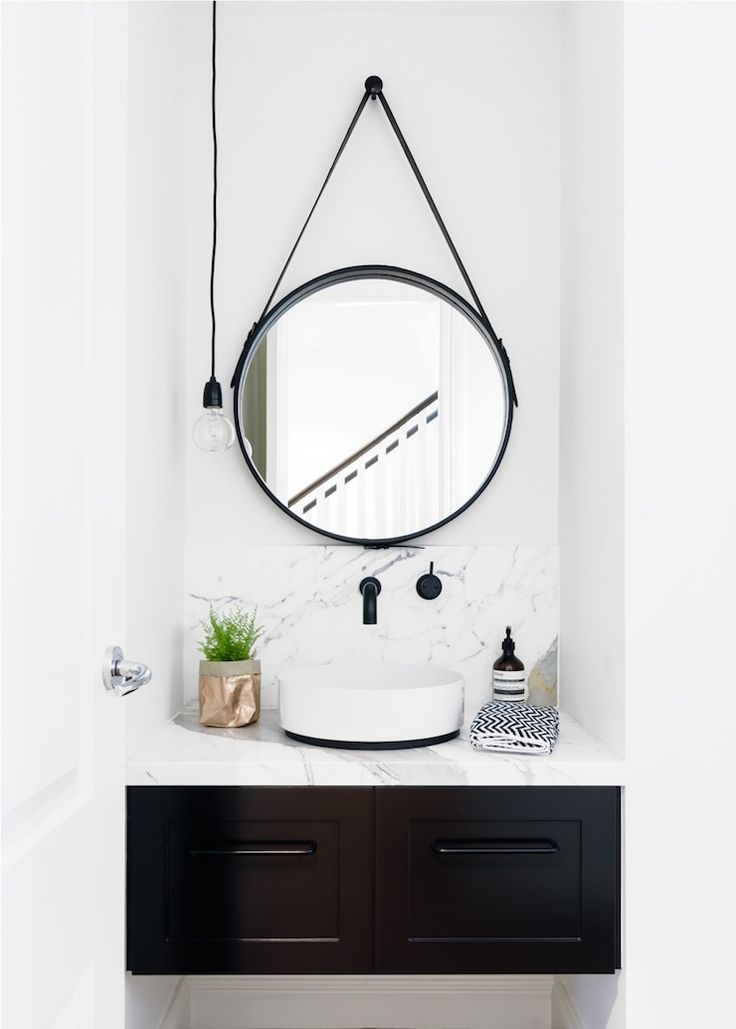 black and white modern bathroom | biasol design studio
