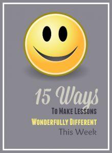 15 fun lesson ideas