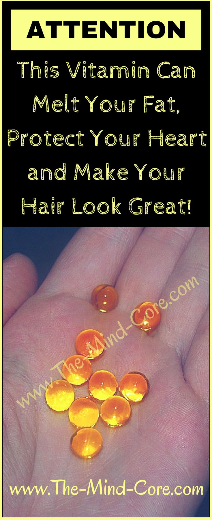 ATTENTION: Melt Fat, Protect Your Heart and Make Your Hair Look Great With This Vitamin!!!