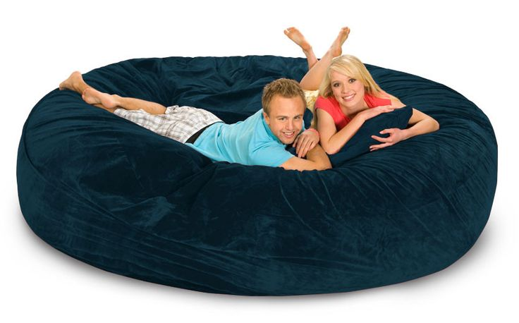 8 ft Navy Blue Bean Bag Bed