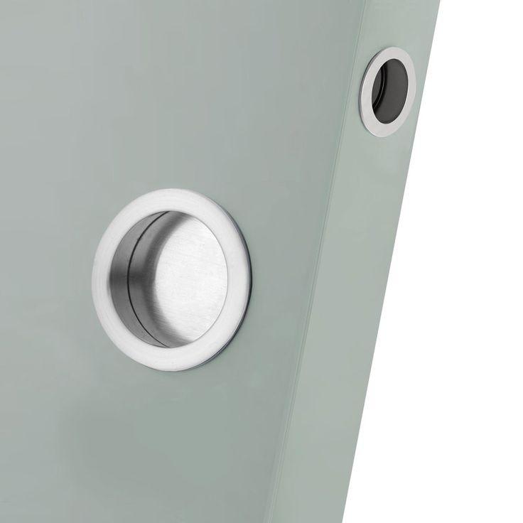 Dale SCP Round Sliding Flush Pull Set (2no. flush pulls / 1no. door end pull). #flushpull #flushpullhandle #slidingdoorhandle