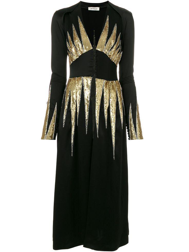 Attico v-neck dress