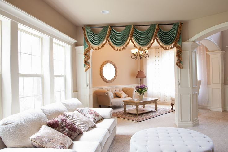 Lovely Picture Of Green Chenille   Flip Pole Swag Style | Window Dressing |  Pinterest | Curtains, Window Treatments And Valances