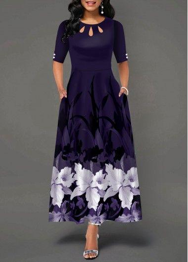 Mangas de cintura alta malha patchwork vestido preto   Rosewe.com – USD $ 34,03   – Babygirl