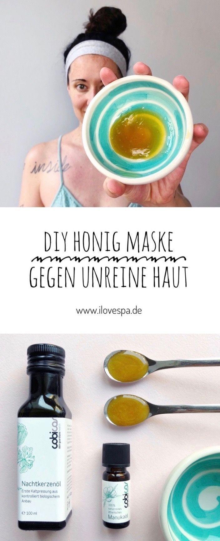DIY Honig Maske gegen Pickel und unreine Haut mit Manuka Honig – #DIY #gegen #Ha…