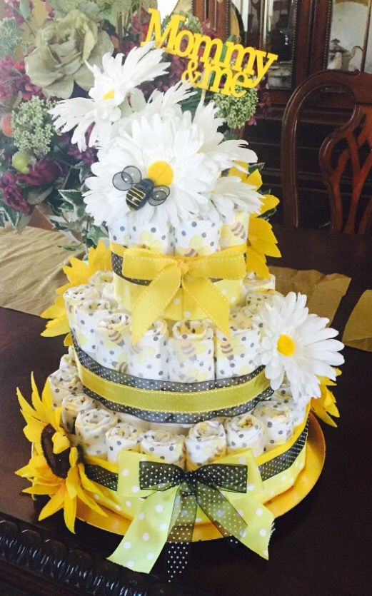 Bumble Bee Diaper Cake