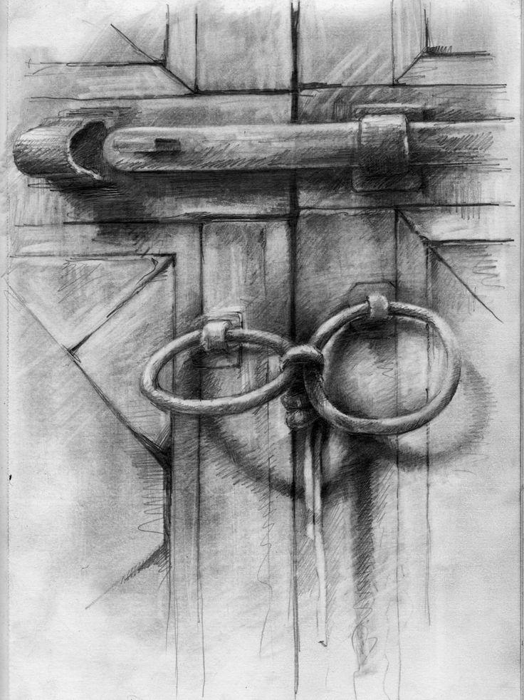 Ian Murphy Moroccan Doorway drawings