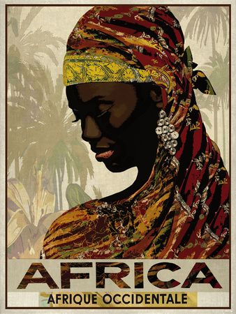Vintage Travel Africa Giclee Print at AllPosters.com