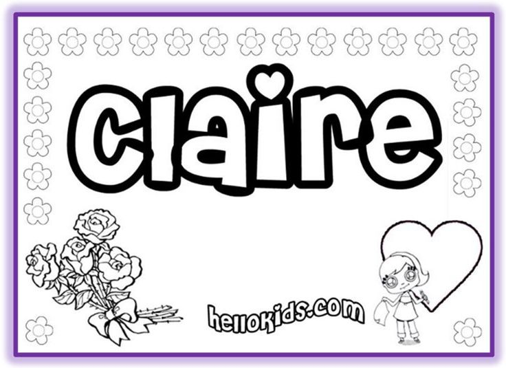 NAME COLORING PAGES Tons of first