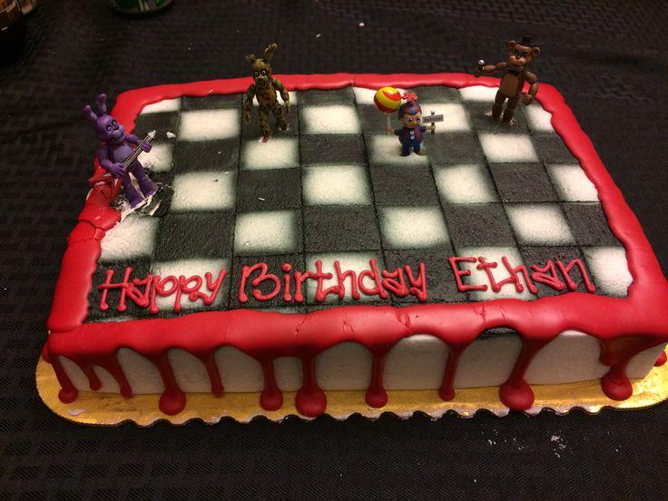 Five Nights at Freddy's Birthday Cake