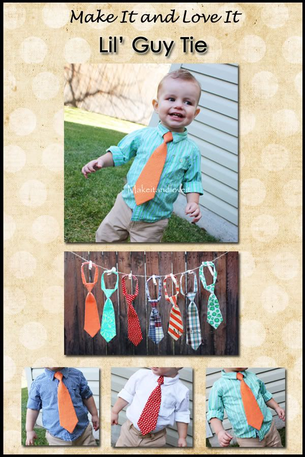 Why buy ties for my boys when I can make them!?  I'm going to make matching ties for all 4 of my guys for Christmas!