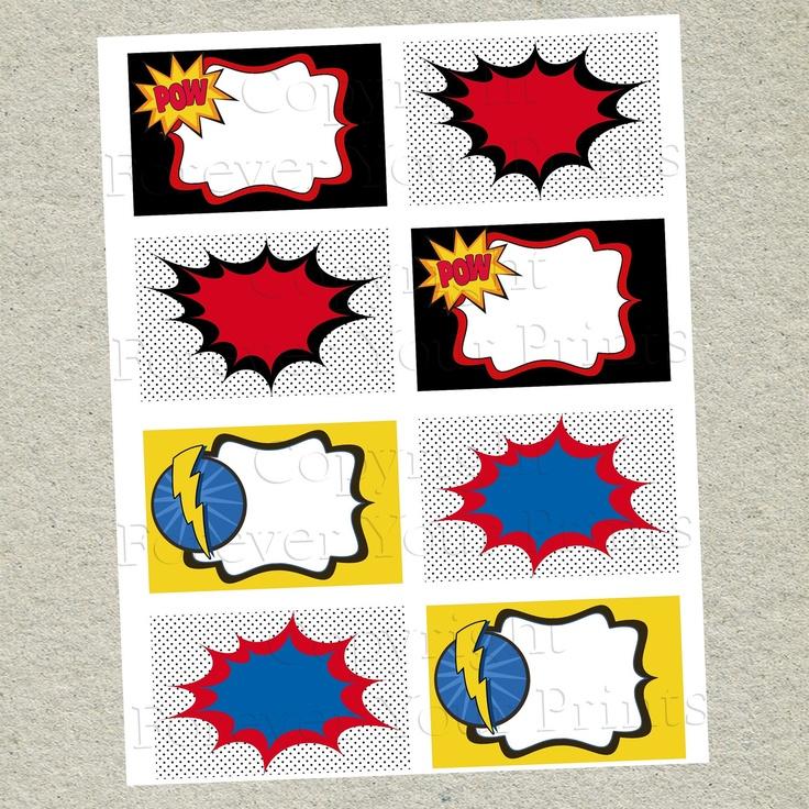 Superhero Printable Table Labels Buffet Cards Diy 4