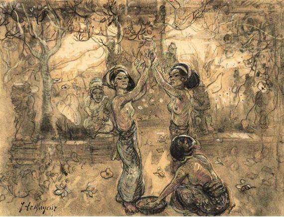 Adrien Jean Le Mayeur de Merprès - Ni Pollok Dancing