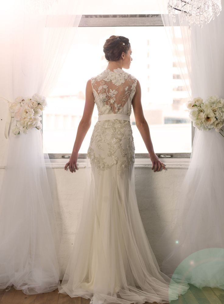 Sarah Janks Wedding Gown - Fall 2014 Collection {Delilah, the  stunning lacebackside}