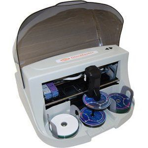 Systor DiscMaster 200P Automated 100 Disc CD DVD BD Auto Printer by Systor. $999.00. This machine will directly print onto inkjet printable discs. 100 disc kiosk kit is included. The DiscMaster 200P Auto Printer makes media printing easy. With the included Disc StudioTM labeling software you simply send a print job and the DiscMaster 200P Auto Printer will automatically insert a CD/DVD for printing. No additional software required. You can also use your favorite l...