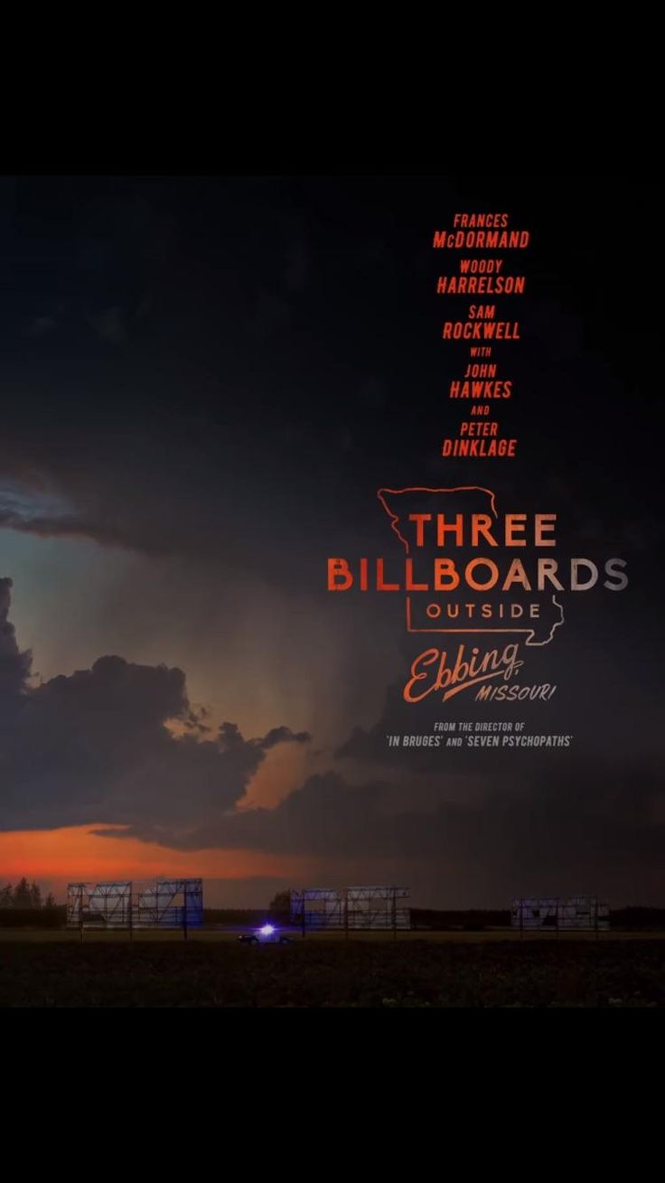 """First poster of Three Billboards Outside Ebbing Missouri the new film by Martin McDonagh director of """"Seven Psychopaths"""" and """"In Bruges"""" Trailer Tomorrow. http://ift.tt/2mWgwkP #timBeta"""