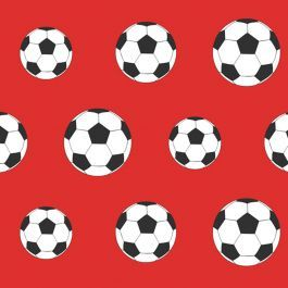 Goal Football Wallpaper - Red 9720 Belgravia Decor  This fantastic wallpaper is ideal for creating a football themed room. The design features classic black and white footballs on a red background making it ideal for Manchester United, Arsenal or Liverpool themed rooms. This striking wallpaper could be used to create a feature wall or to decorate an entire room. Football themed wallpaper Perfect for footy fans! Ideal for bedrooms, playrooms and dens Size: 10m (32.8 ft) long x 0.53m wide…