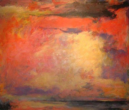 JON SCHUELER The Minch from Reiff, 1966 Oil on canvas