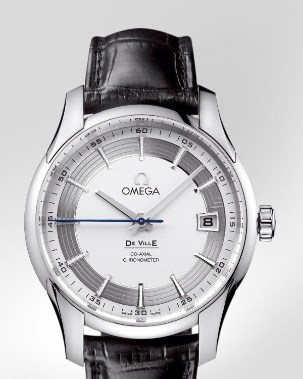 OMEGA Watches: De Ville Hour Vision - Steel on leather strap - 431.33.41.21.02.001