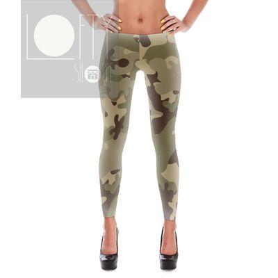 Brown camo yoga pants leggings fitness apparel http://www.facebook.com/loftyshoppe or http://www.loftyshoppe.storenvy.com