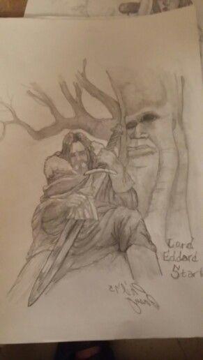 Lord Eddard Stark,  in the Godswoods of Winterfell