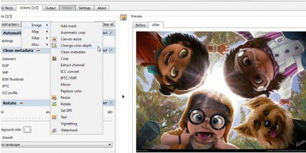 XnConvert, un conversor de imágenes por lote multiplataforma con opciones incluso para retocar fotos