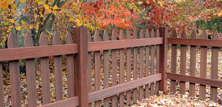 Gothic Picket Define Your Yard Or Garden With A Decorative And Low Maintenance Composite Fence