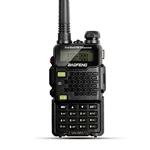 BaoFeng UV-5R5 5W Dual-Band Two-Way Ham Radio Transceiver UHF/VHF 136-174/400-520MHz. For product info go to:  https://all4hiking.com/products/baofeng-uv-5r5-5w-dual-band-two-way-ham-radio-transceiver-uhfvhf-136-174400-520mhz/
