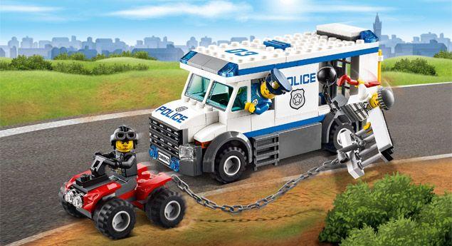 LEGO.com City Producten - Politie - 60043 Gevangenen transportvoertuig