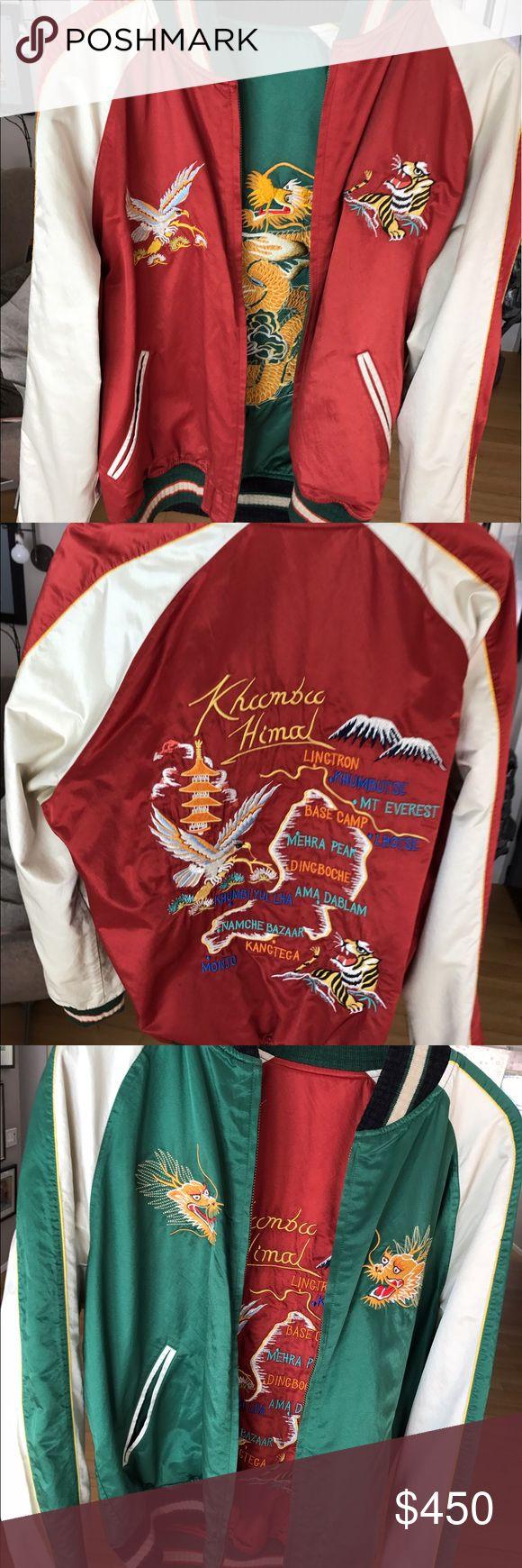 Ralph Lauren Khumbu Reversible Tour Jacket Polo Ralph Lauren Red/Green Khumbu Reversible Satin Tour Jacket, price tag still on. Polo by Ralph Lauren Jackets & Coats Bomber & Varsity