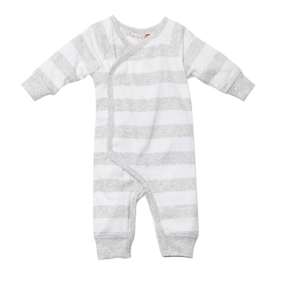 Designer baby clothing online - Fox & Finch Baby Essential Stripe Romper - White - $34.95 - Simple, sweet, stylish and gender neutral - perfect newborn baby purchase where gender is a surprise!  Colour: White / Grey  Material:  100% Cotton. Designer baby clothing online - Fox & Finch