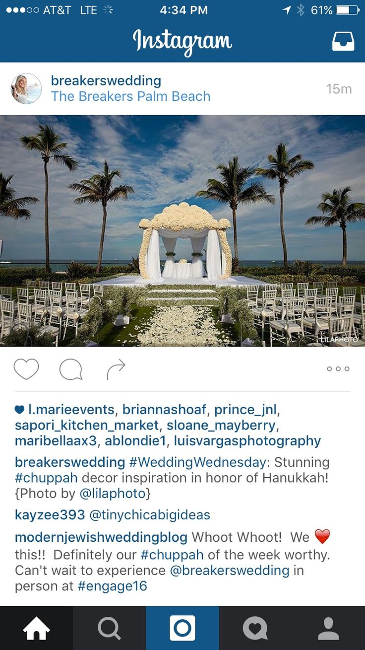 We saw #chuppah on @Instagram today from The Breakers (you know the resort where Sofia Vagara was just married).  We think it is a work of art!  #MazelTov #JewishWedding #JewishWeddingBlog