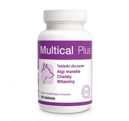 Multical Plus 90 tabletek. Multical Plus to preparat witaminowo-mineralno-aminokwasowy wzbogacony o naturalne substancje: algi morskie, tokoferole, prebiotyki - mannanooligosacharydy i beta-glukany. Zawarte w preparacie chelaty zapewniają wysoką biodostępność mikroelementów. Składniki preparatu poprawiają kondycję, wzmacniają odporność, pomagają utrzymać witalność i zdrowie zwierząt.