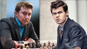 Karjakin or Carlsen?  Defending champion Magnus Carlsen will take on challenger Sergey Karjakin in November. After an exhaustive eight-month search, the organizers of the World Chess Championship have settled on a location for the title match of the tournament's 2016 edition, which is scheduled to be played on American soil for the first time in 21 years.  Read more: http://www.chessgames.gr/index.php/greek-blog-skaki/101-karjakin-i-carlsen