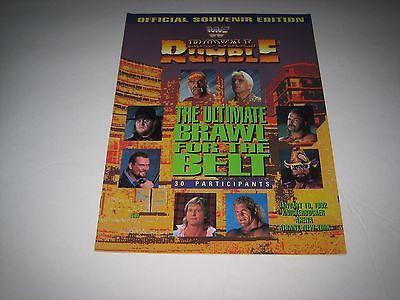 1992 Royal Rumble Official Program LIVE EVENT !!! vtg wwf wrestling